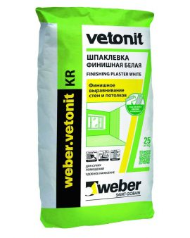 Шпаклевка Weber Vetonit KR 20 кг