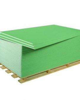 Гипсокартонный лист влагостойкий (ГКЛВ) Knauf 2500х1200х12,5 мм