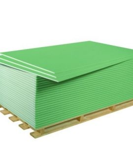 Гипсокартонный лист влагостойкий (ГКЛВ) Knauf 2500х1200х9,5 мм