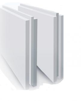 Плита пазогребневая Гипсополимер полнотелая 667х500х80 мм